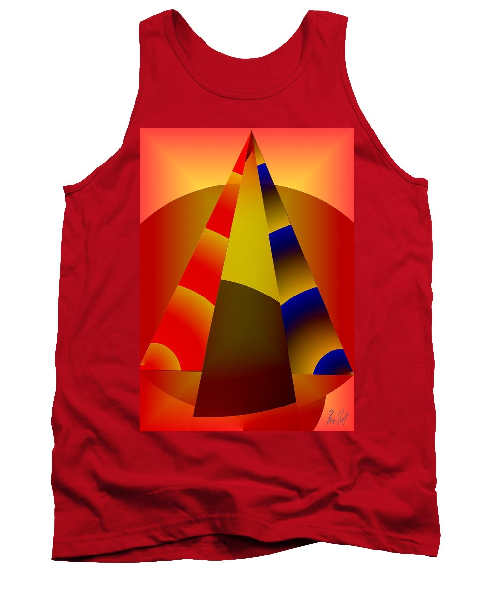 Pyramids Tank Top featuring the digital art Pyramids Pendulum by Helmut Rottler