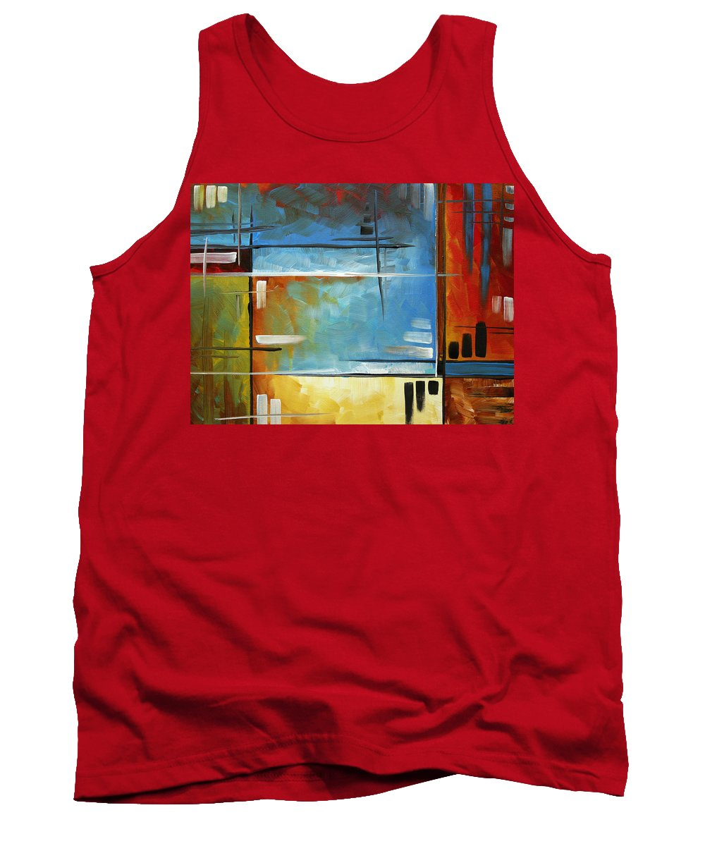 Abstract Tank Top featuring the painting Quiet Whispers By Madart by Megan Duncanson