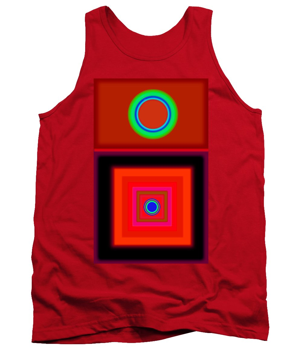 Classical Tank Top featuring the digital art Radio Palladio by Charles Stuart