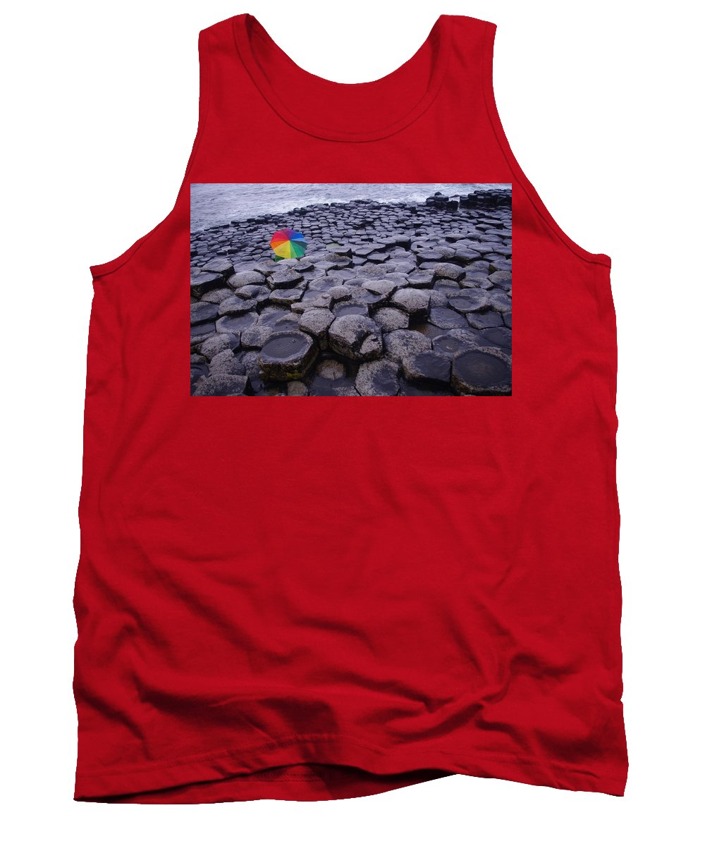 Giant's Causeway Tank Top featuring the photograph Rainbow At Giant's Causeway by Merrill Miller