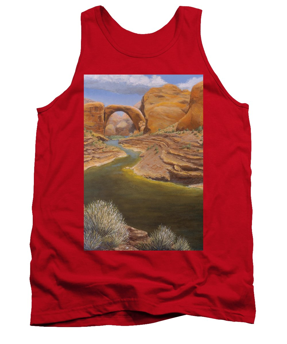 Rainbow Bridge Tank Top featuring the painting Rainbow Bridge by Jerry McElroy