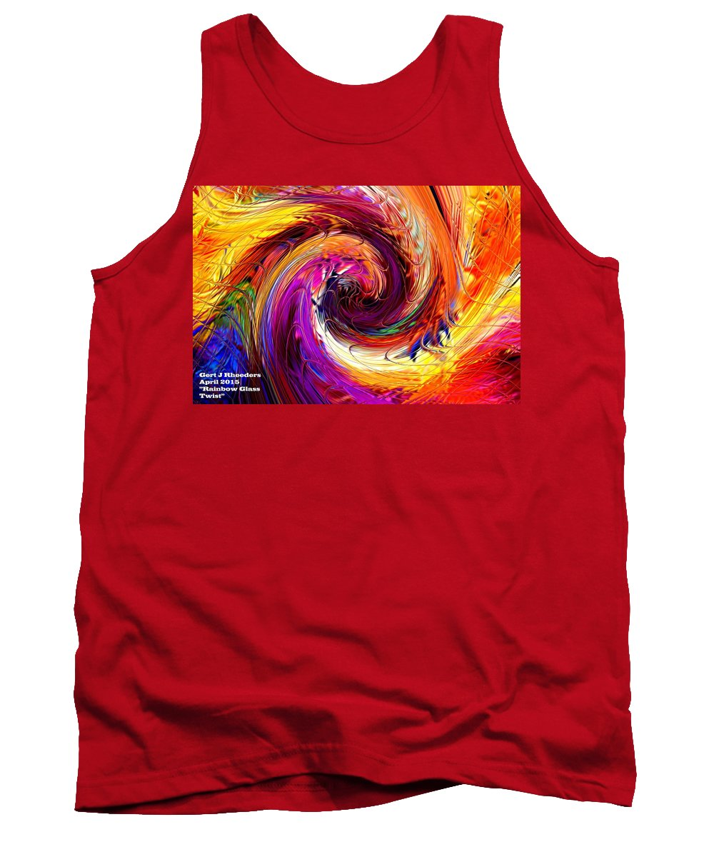 Announcement Tank Top featuring the painting Rainbow Glass Twist H A by Gert J Rheeders