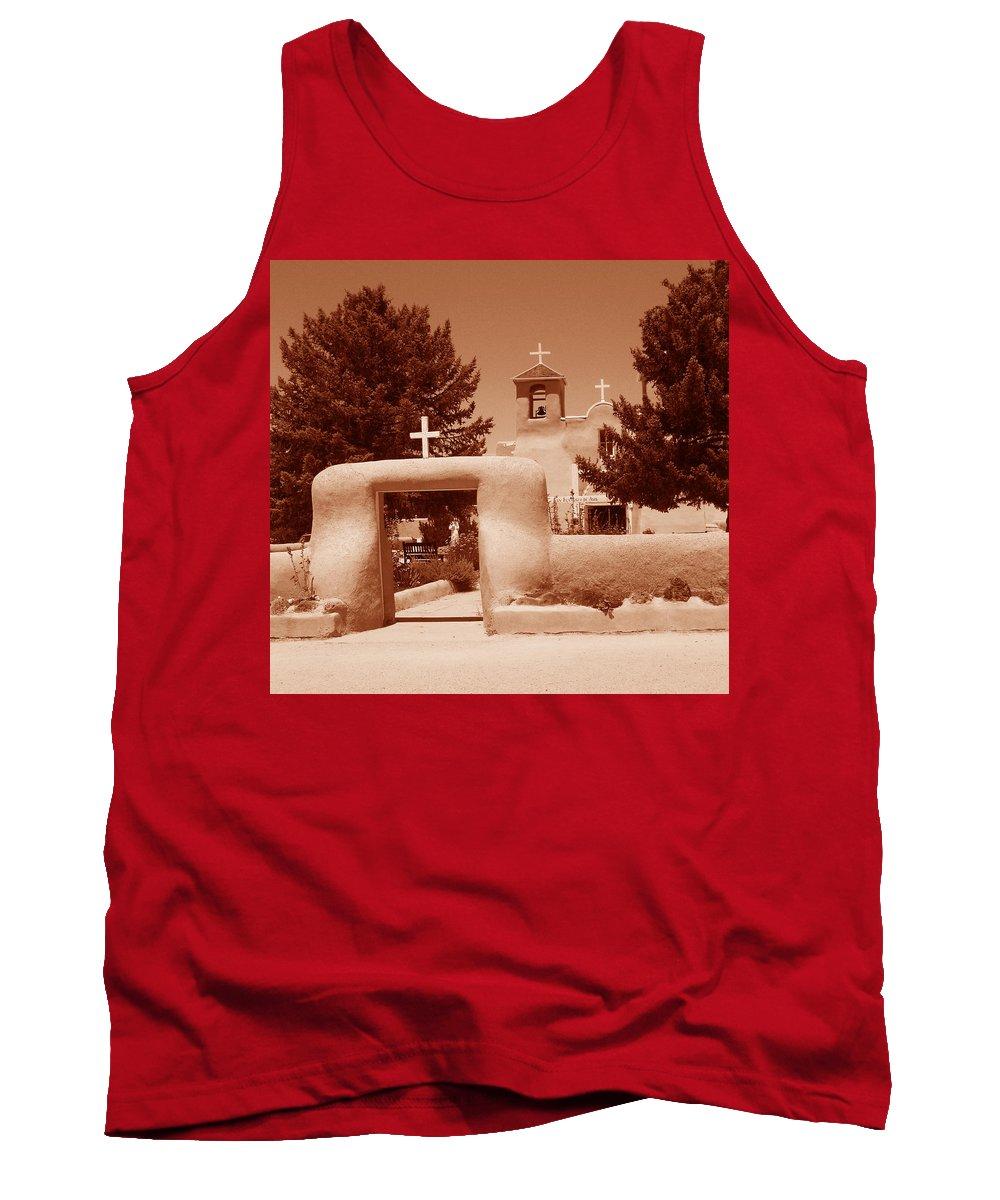 Church Tank Top featuring the photograph Ranchos De Taos Church  New Mexico by Wayne Potrafka