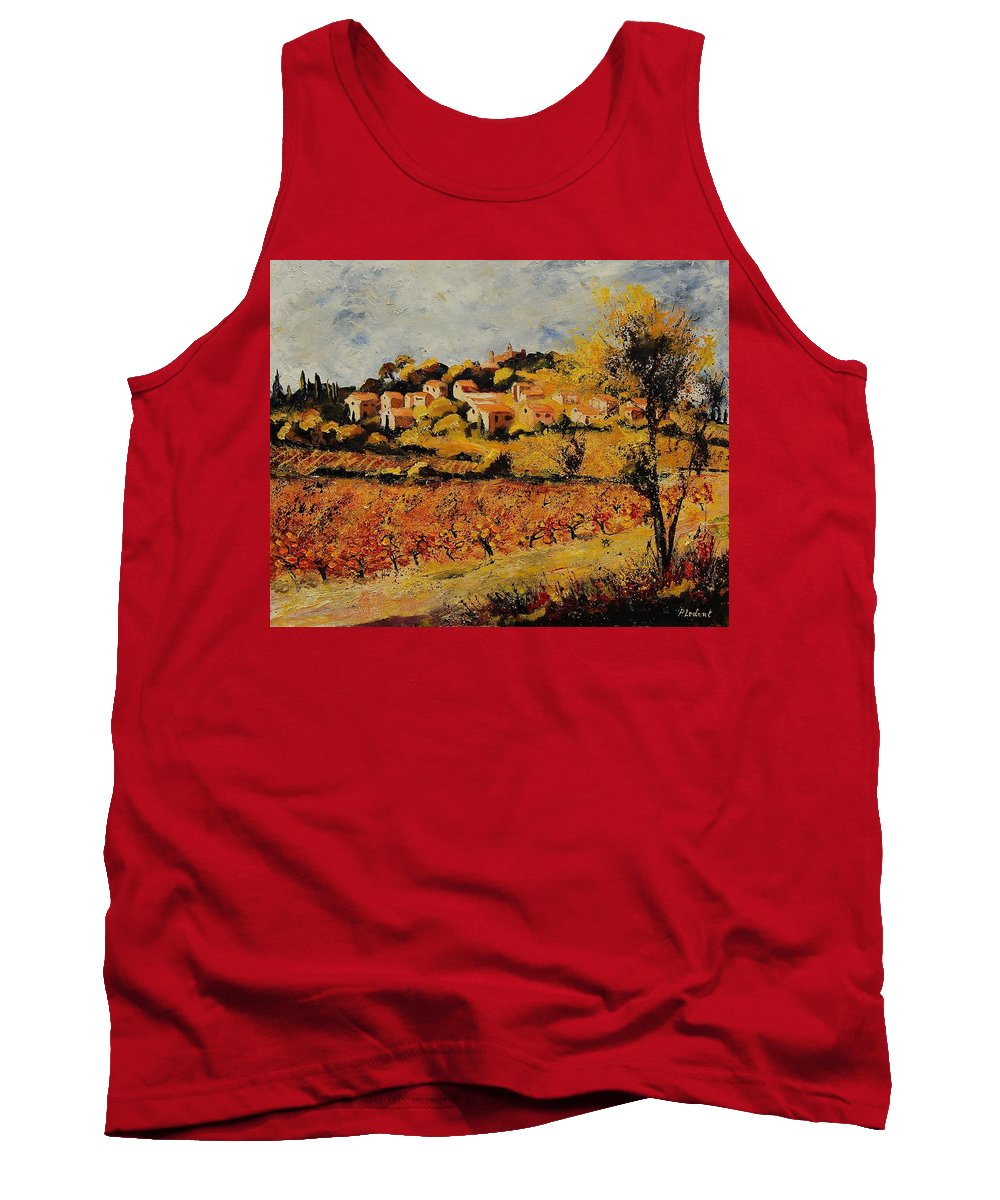 Provence Tank Top featuring the painting Rasteau Vaucluse by Pol Ledent