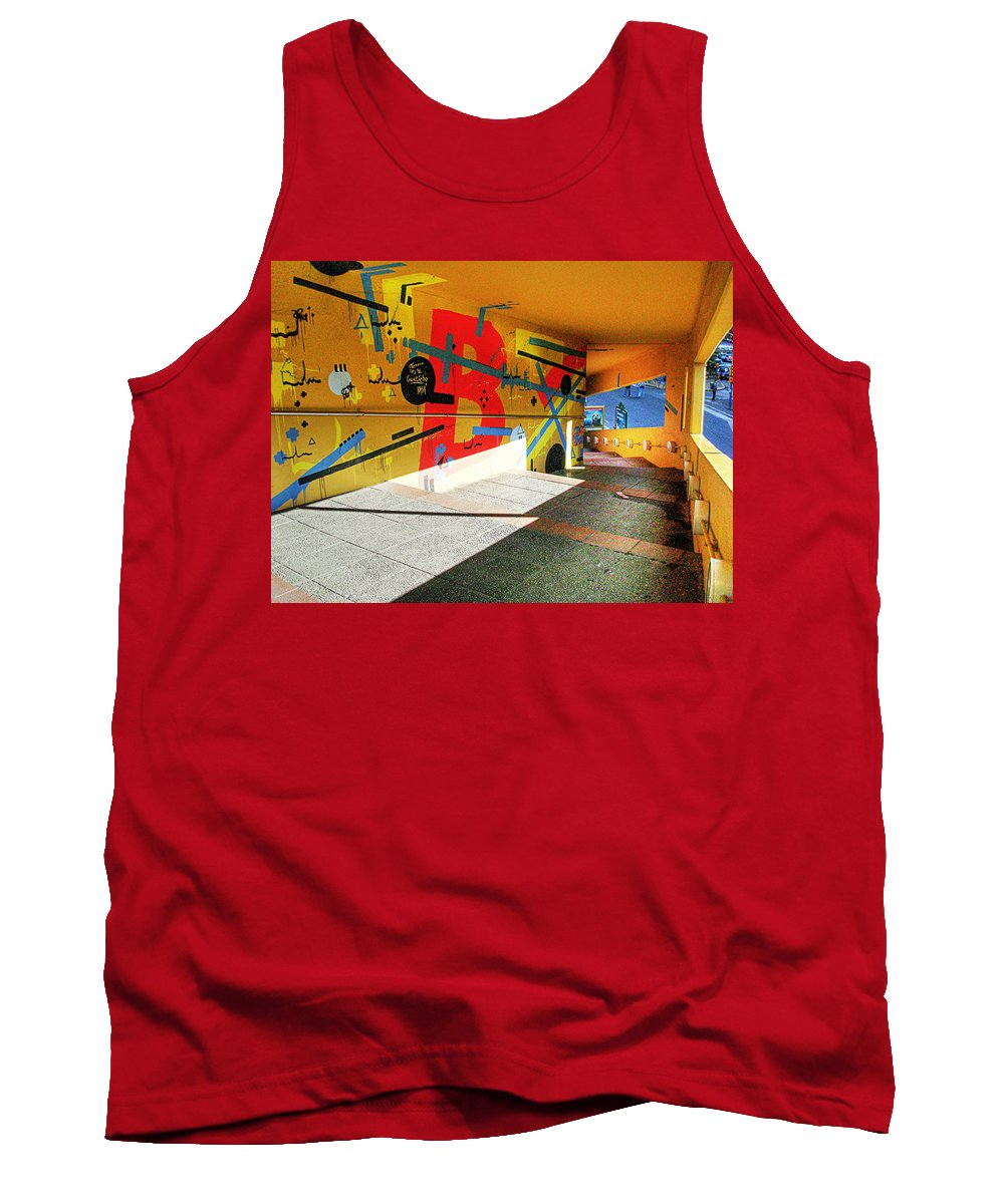 Tunnel Tank Top featuring the photograph Recoleta Tunnel by Francisco Colon