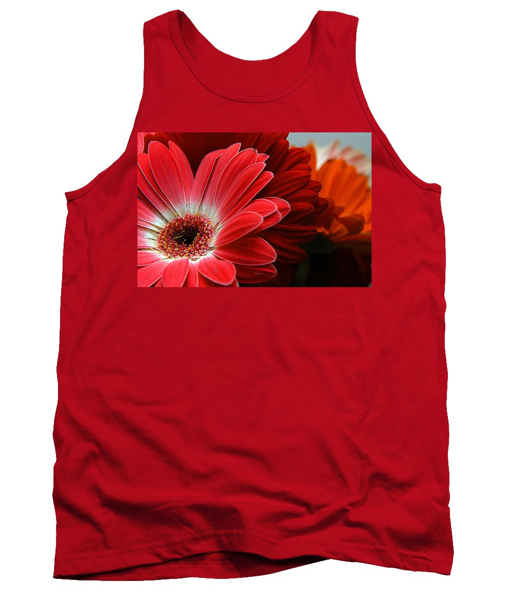 Clay Tank Top featuring the photograph Red And Orange Florals by Clayton Bruster