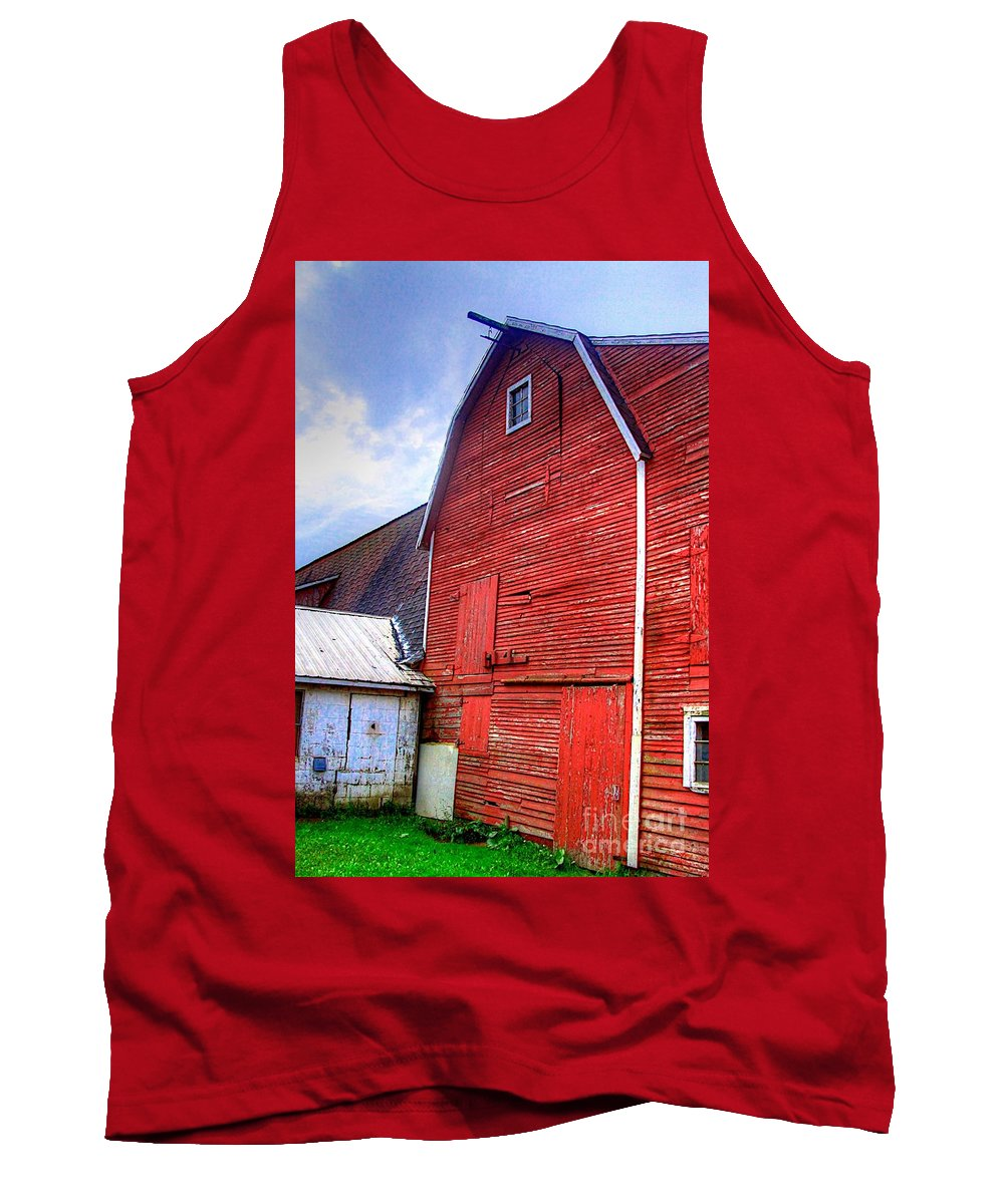 Related Tags: Tank Top featuring the photograph Red Barn by Robert Pearson