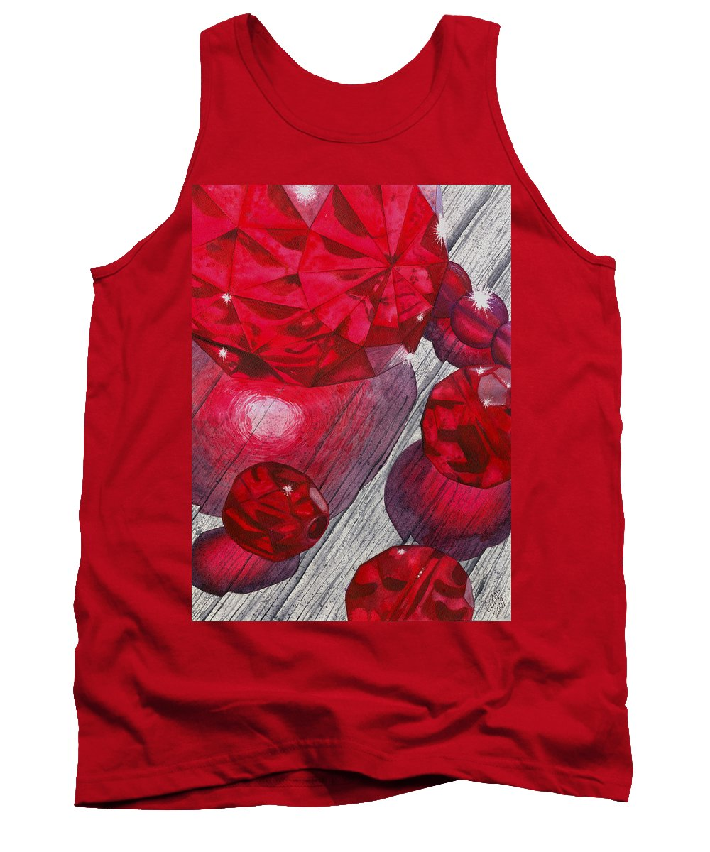 Red Tank Top featuring the painting Red by Catherine G McElroy