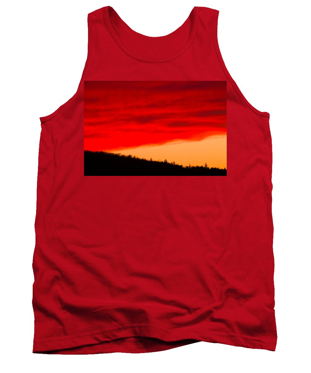 Sunset Tank Top featuring the photograph Red Cloud by Irwin Barrett