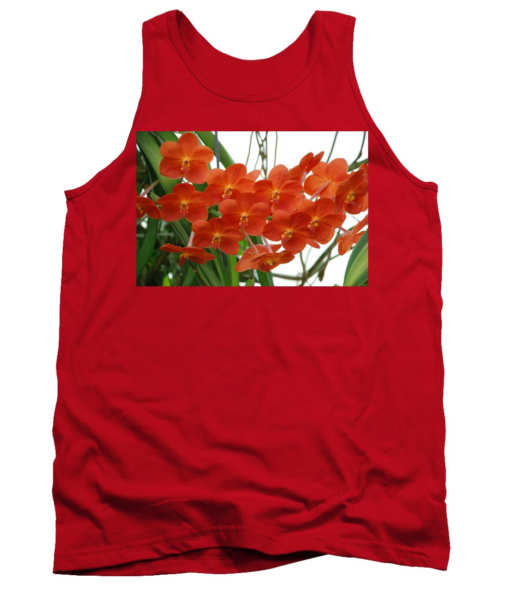 Macro Tank Top featuring the photograph Red Flowers by Rob Hans