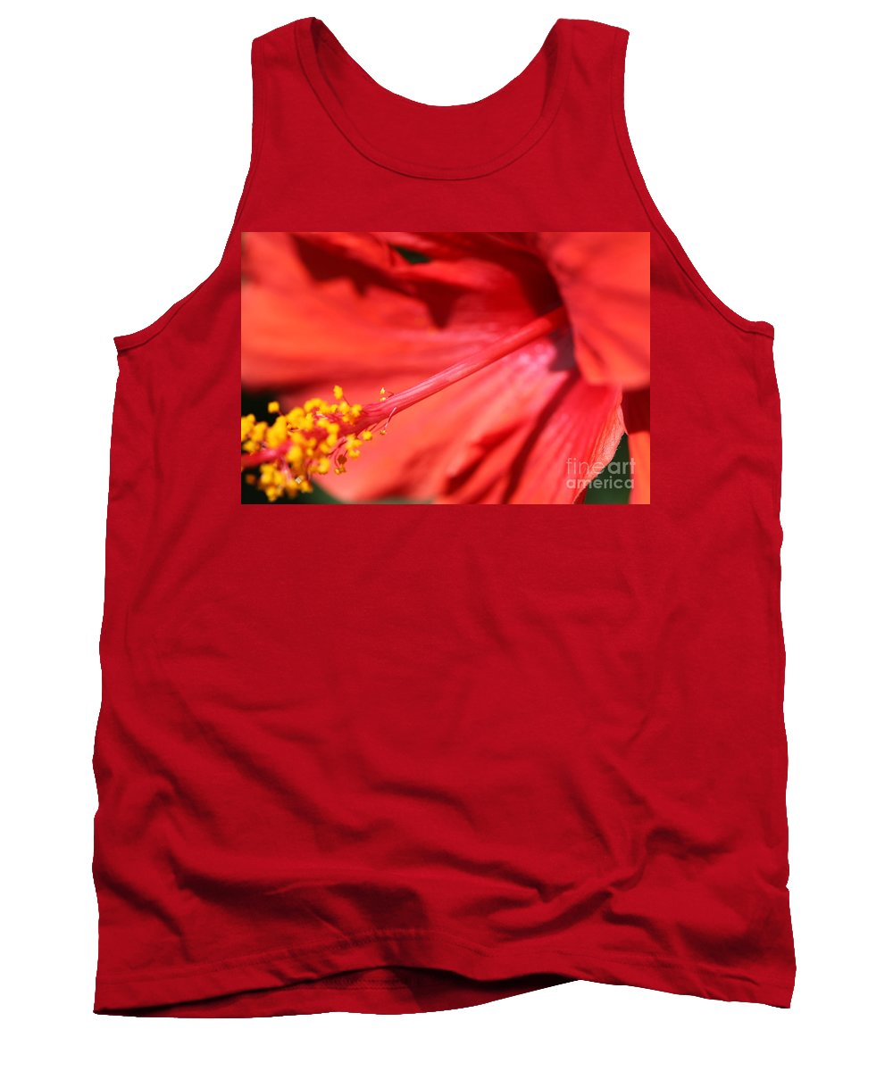 Red Tank Top featuring the photograph Red Hibiscus by Nadine Rippelmeyer