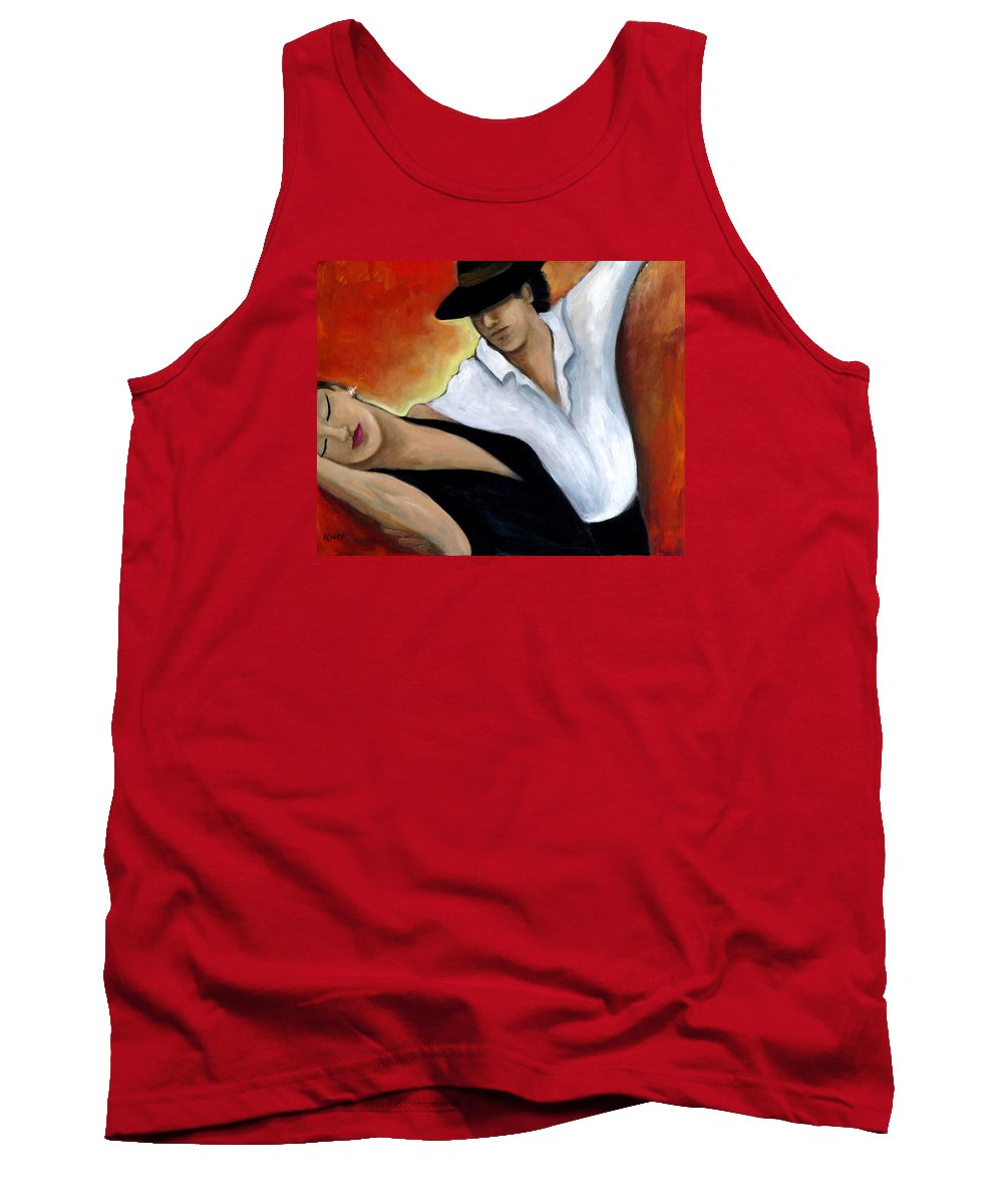 Dancers Tank Top featuring the painting Red Hot by Valerie Vescovi