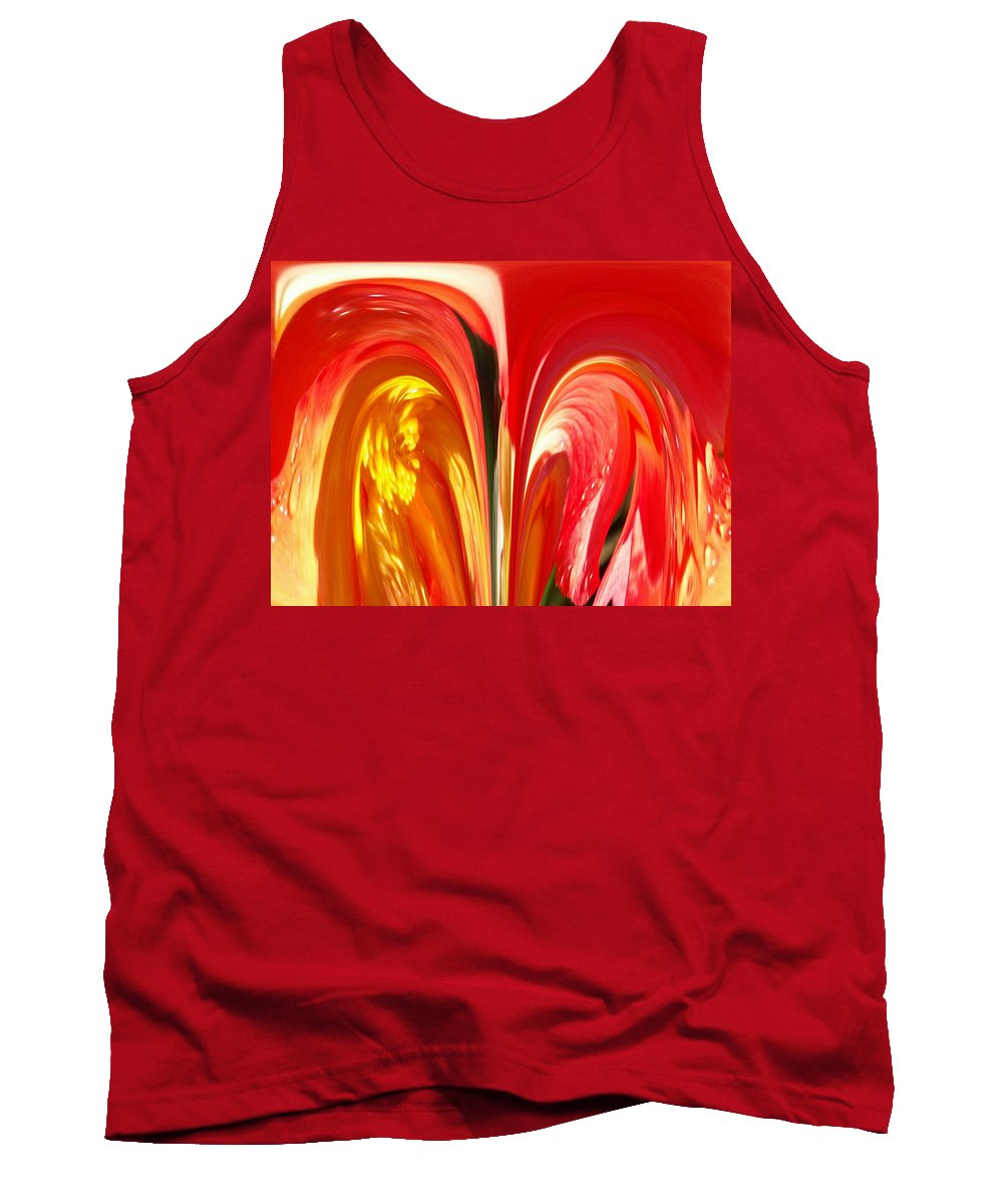 Flowers Tank Top featuring the photograph Red N Yellow Flowers 4 by Tim Allen