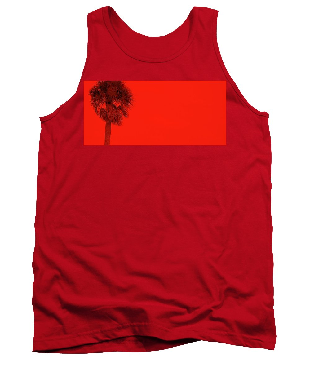 Landscape Tank Top featuring the photograph Red Palm by Ed Smith