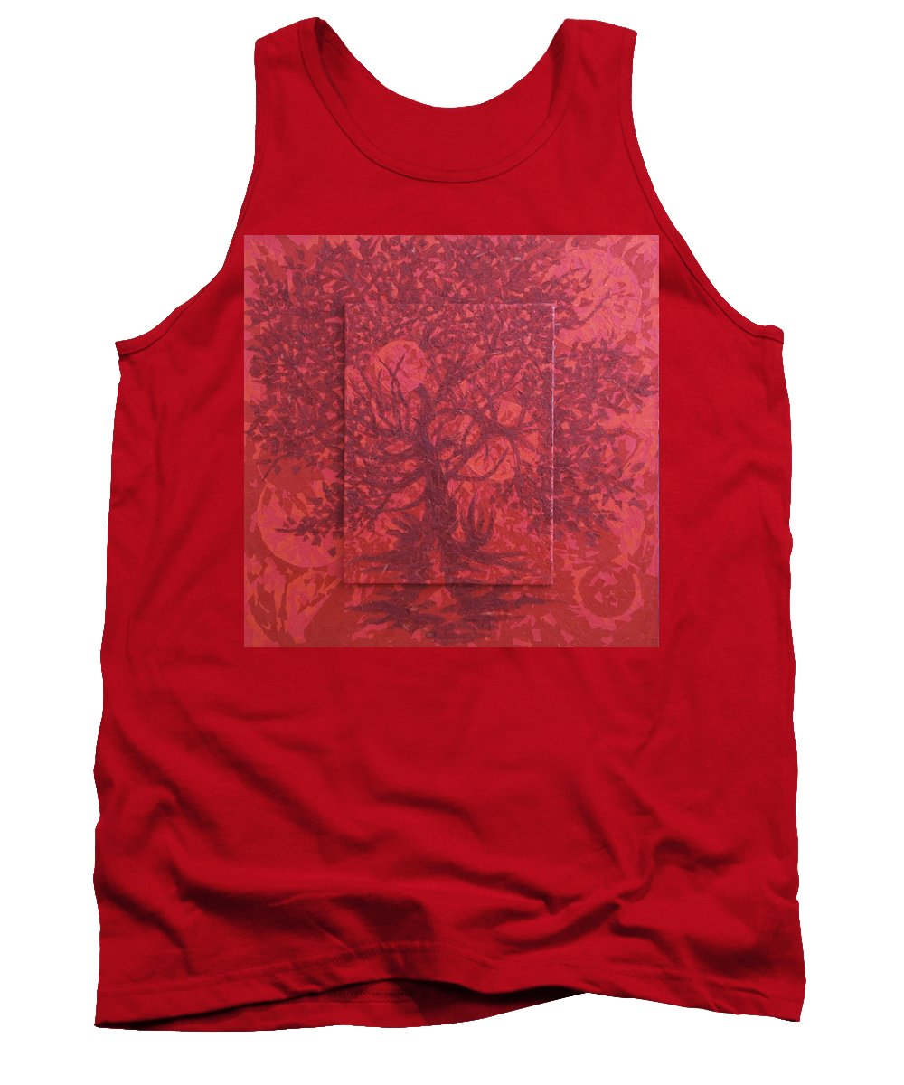 Red Tank Top featuring the painting Red Planet by Judy Henninger