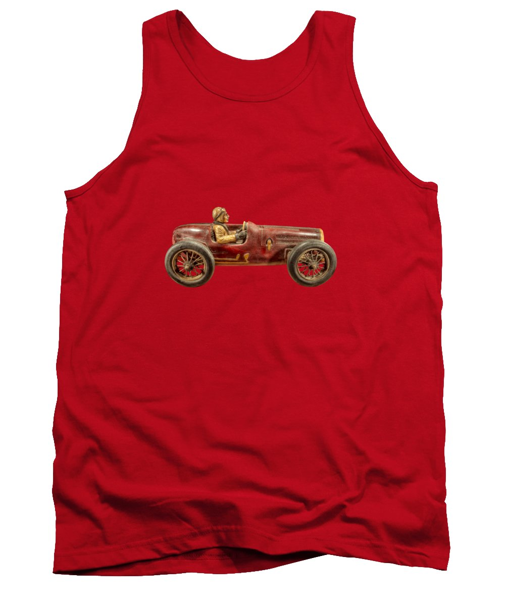 Antique Tank Top featuring the photograph Red Racer Right by YoPedro