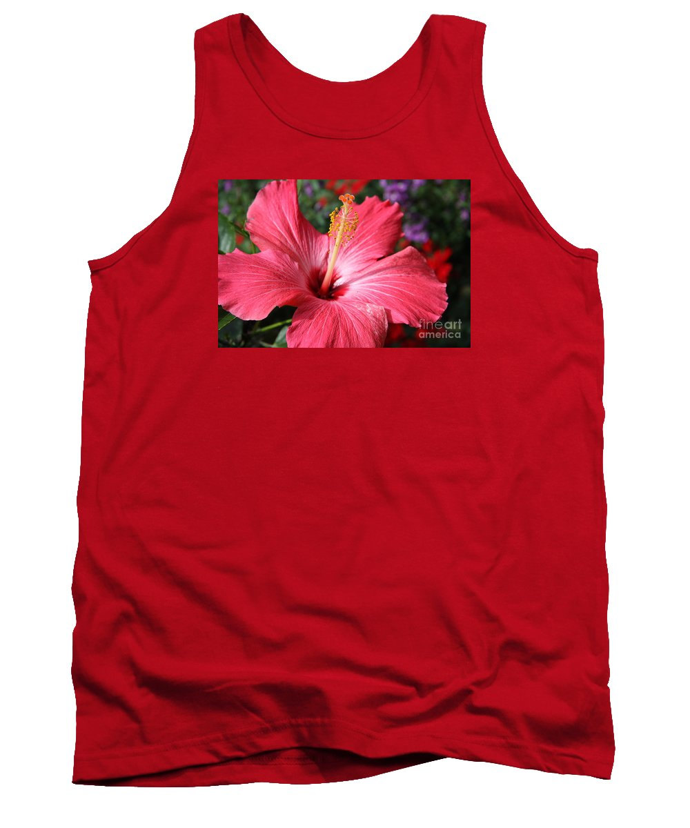 Hibiscus Tank Top featuring the photograph Red Rose Of Sharon by Christiane Schulze Art And Photography