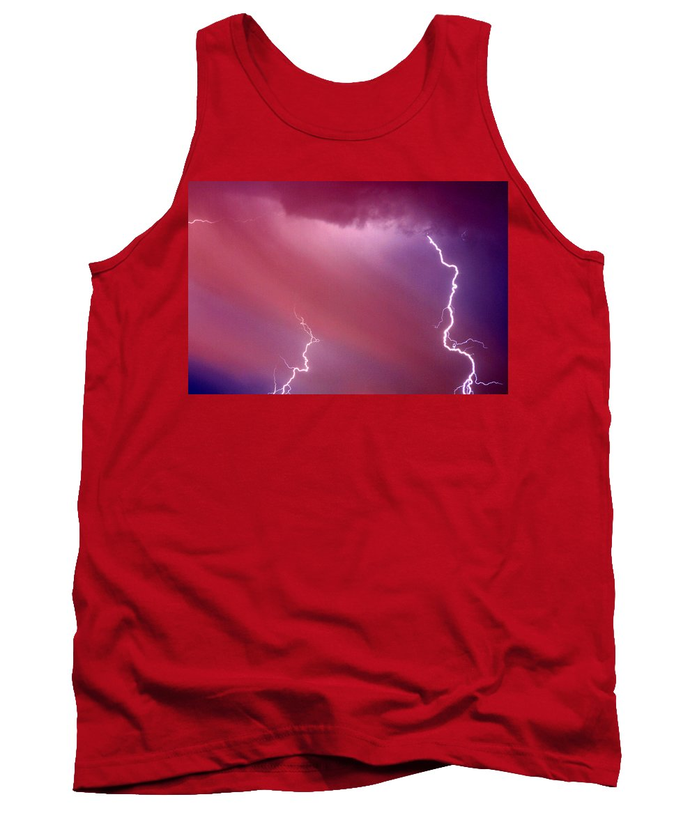 Sky Tank Top featuring the photograph Red Storm by Anthony Jones