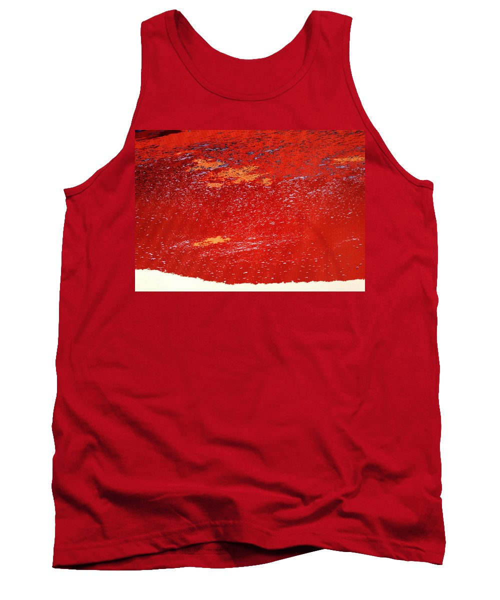 Red Tank Top featuring the photograph Red Surf On The Beach by Ian MacDonald