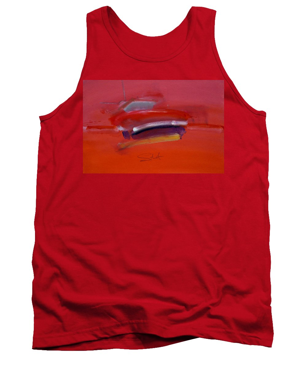 Fishing Boats Tank Top featuring the painting Red Trawler by Charles Stuart