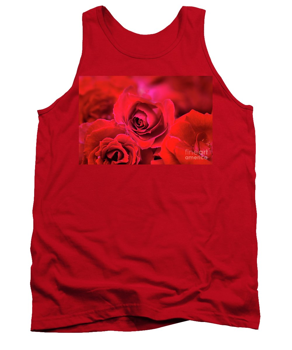 Roses Tank Top featuring the photograph Red Velvet by Charuhas Images