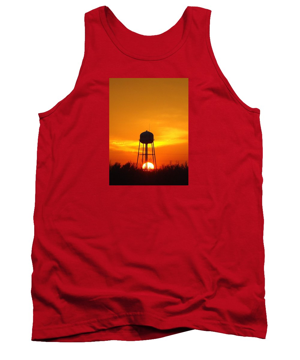 Sunset Tank Top featuring the photograph Redneck Water Heater For Whole Town by J R Seymour