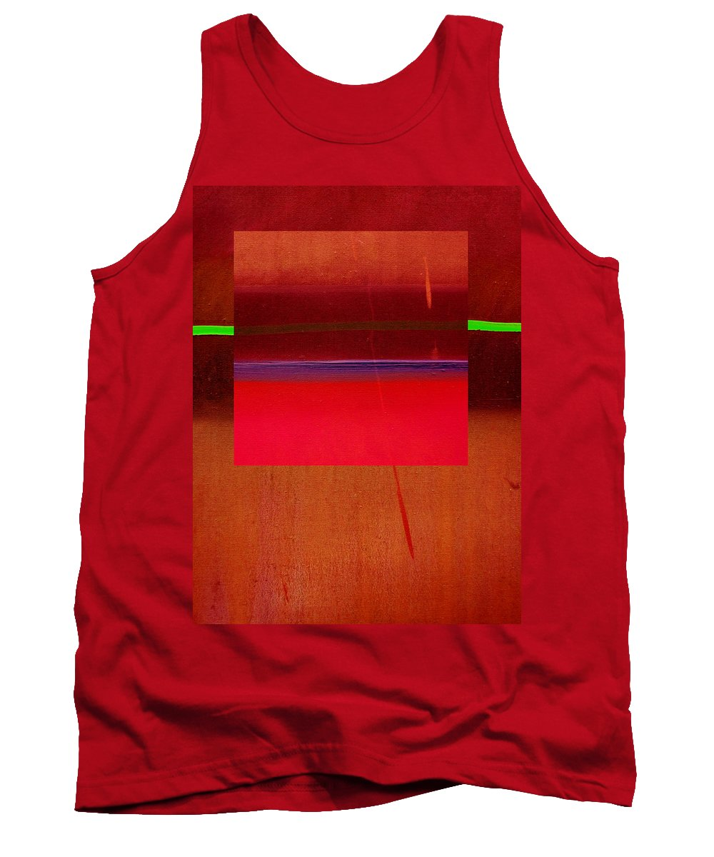 Landscape Tank Top featuring the painting Redscape by Charles Stuart
