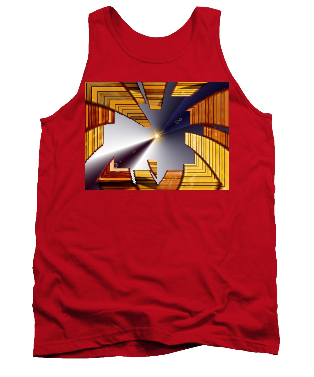 Seattle Tank Top featuring the digital art Reeds 3 by Tim Allen