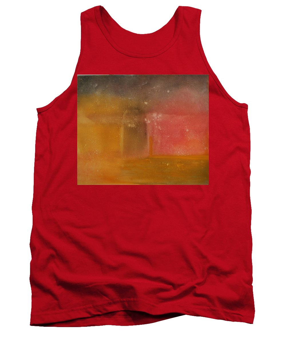 Storm Summer Red Yellow Gold Tank Top featuring the painting Reflection Summer Storm by Jack Diamond