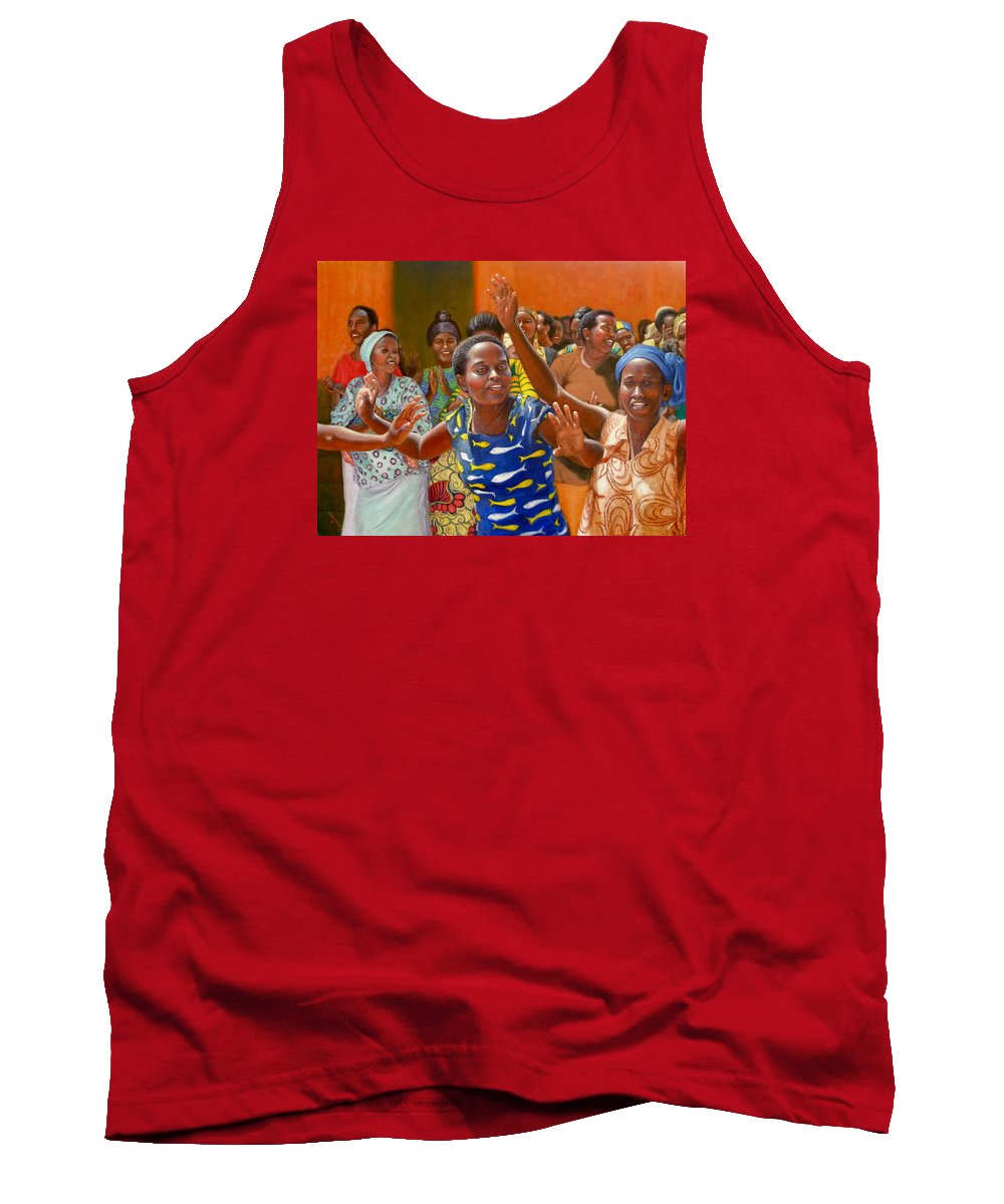 Realism Tank Top featuring the painting Rejoice by Donelli DiMaria