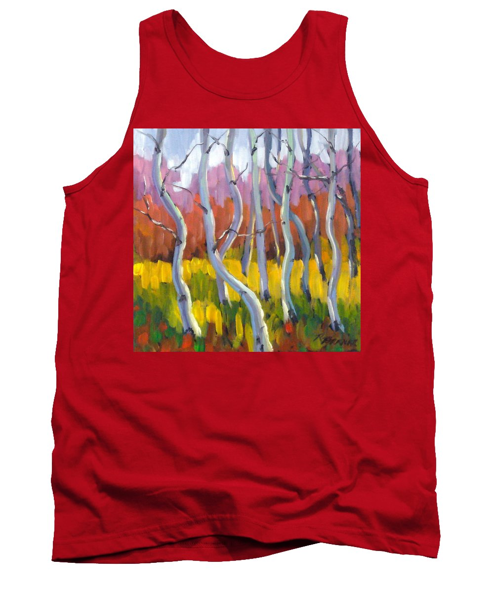 Art Tank Top featuring the painting Rhapsody No 5 by Richard T Pranke