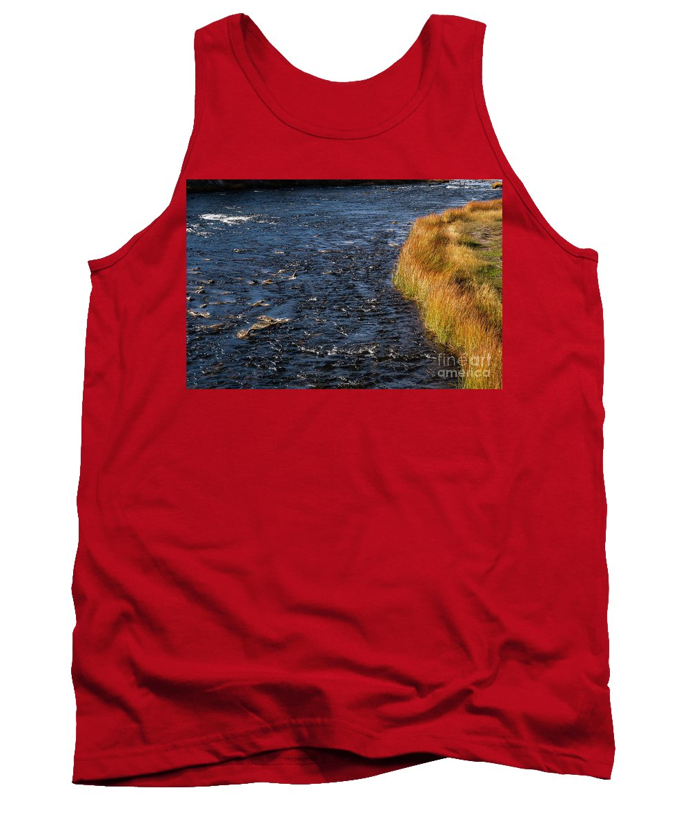 Firehole River Tank Top featuring the photograph River Edge by Bob Phillips