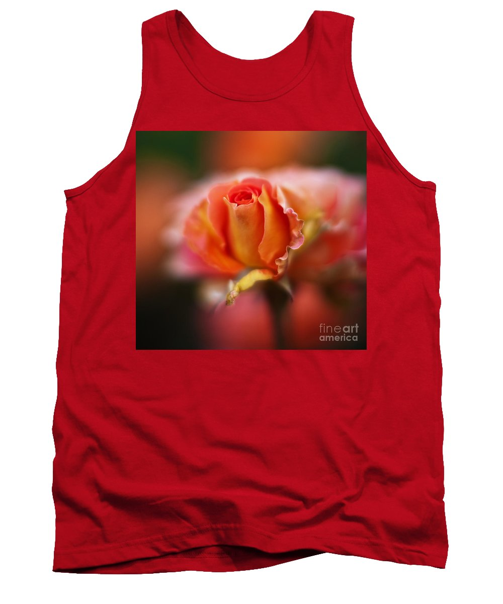 Rose Tank Top featuring the photograph Rose Centerpiece by Mike Reid