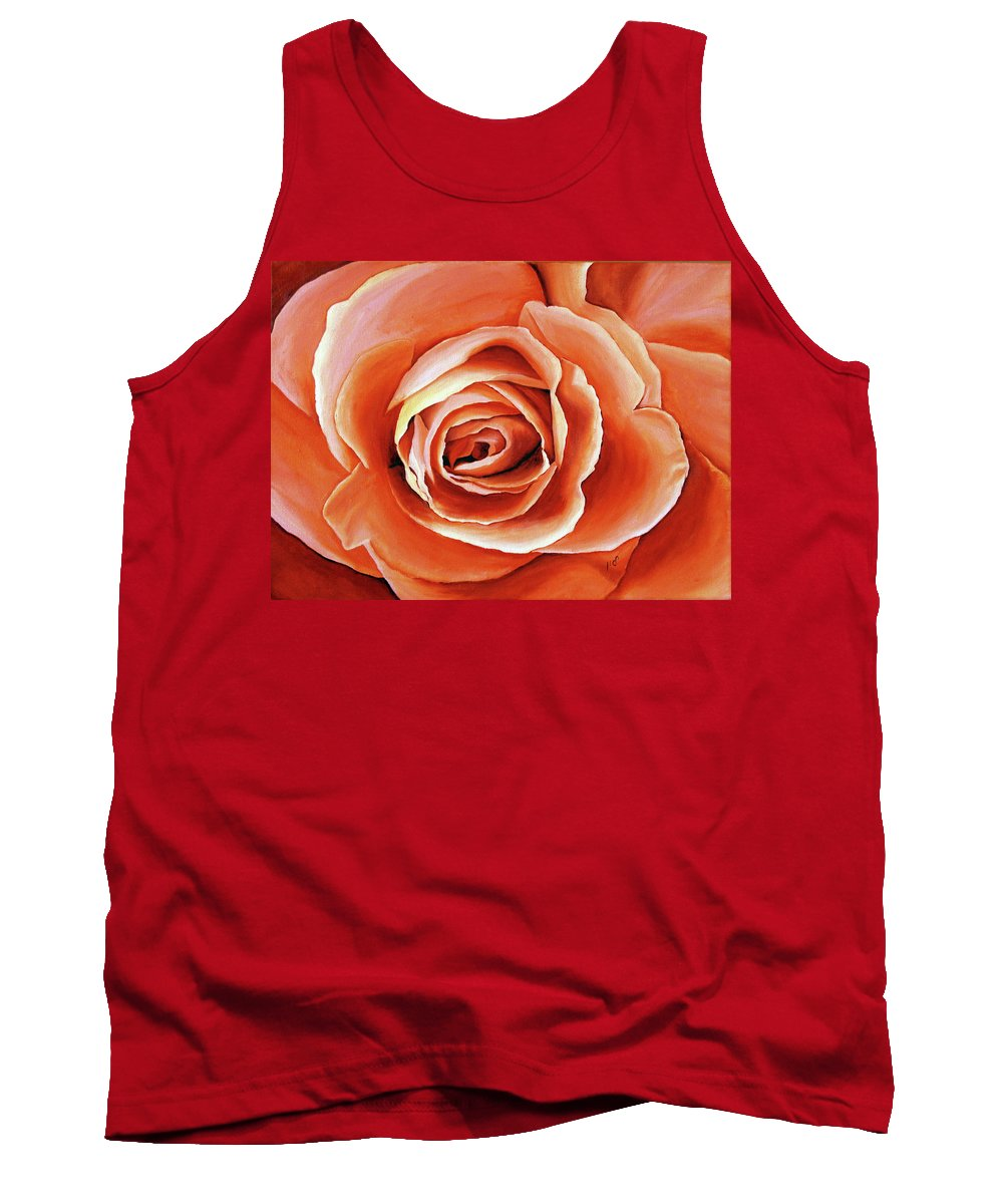 Flower Tank Top featuring the painting Rose Petals by Maria Woithofer