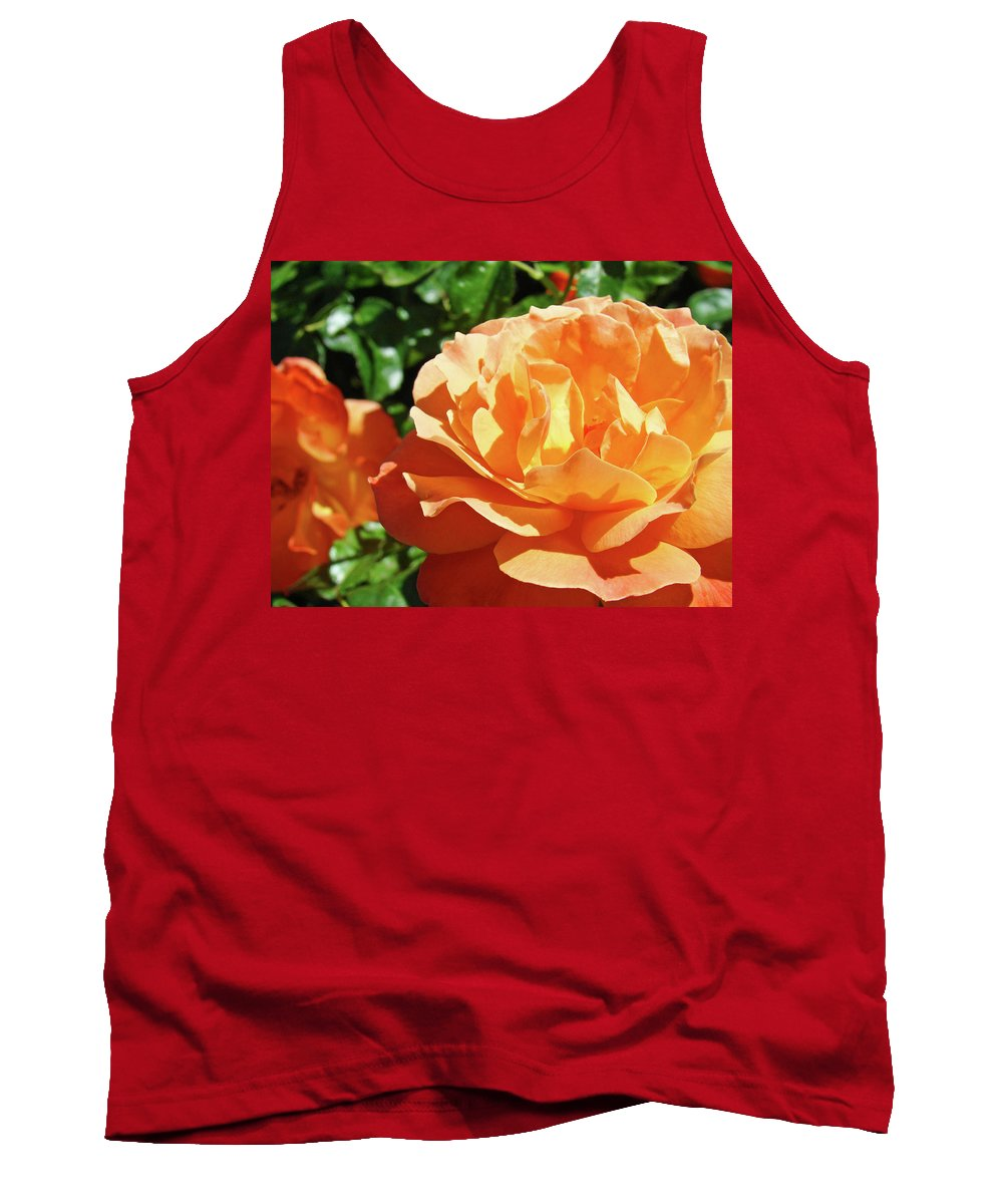 Rose Tank Top featuring the photograph Roses Art Prints Orange Rose Flower 11 Giclee Prints Baslee Troutman by Baslee Troutman