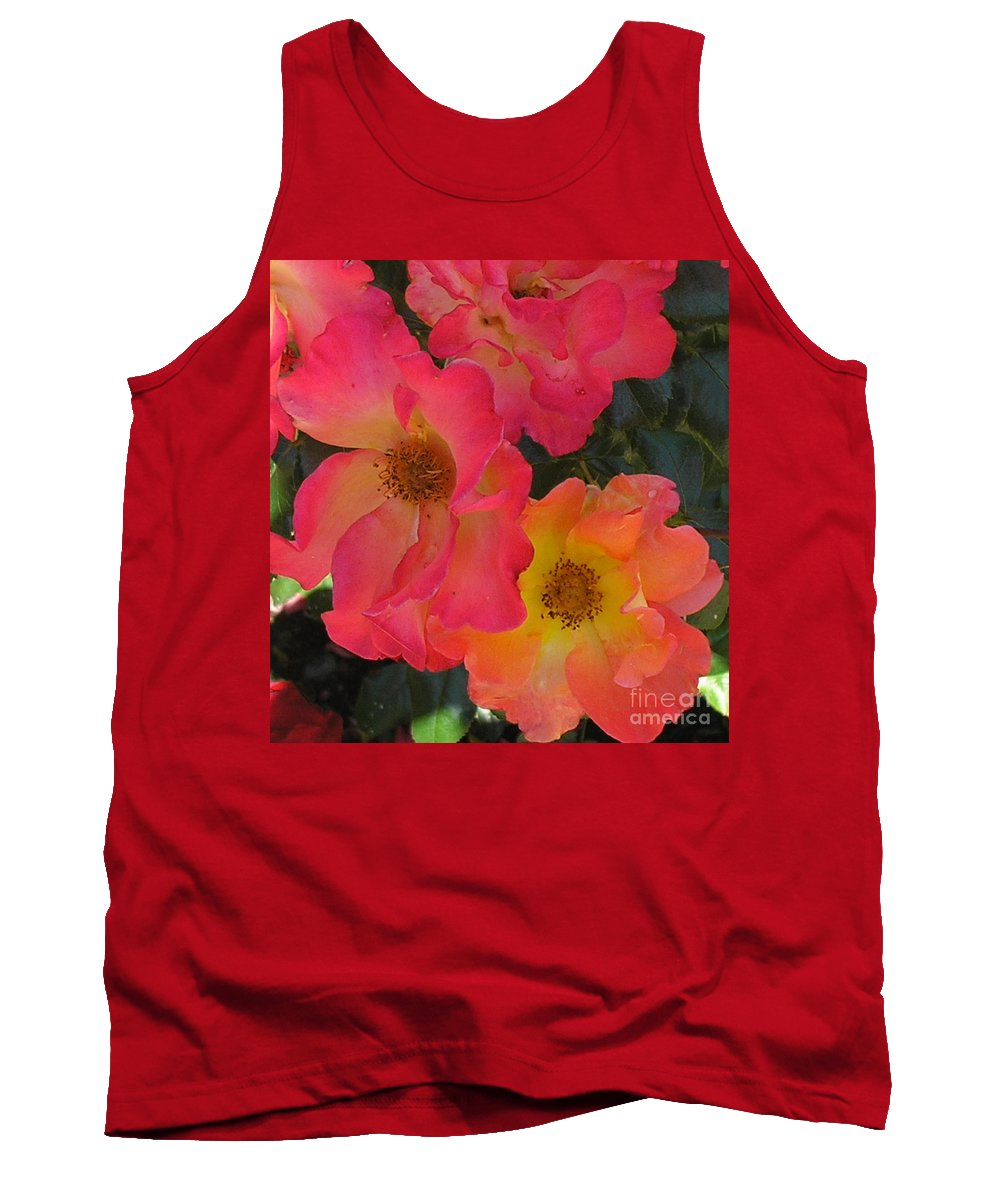 Rose Tank Top featuring the photograph Roses by Dean Triolo