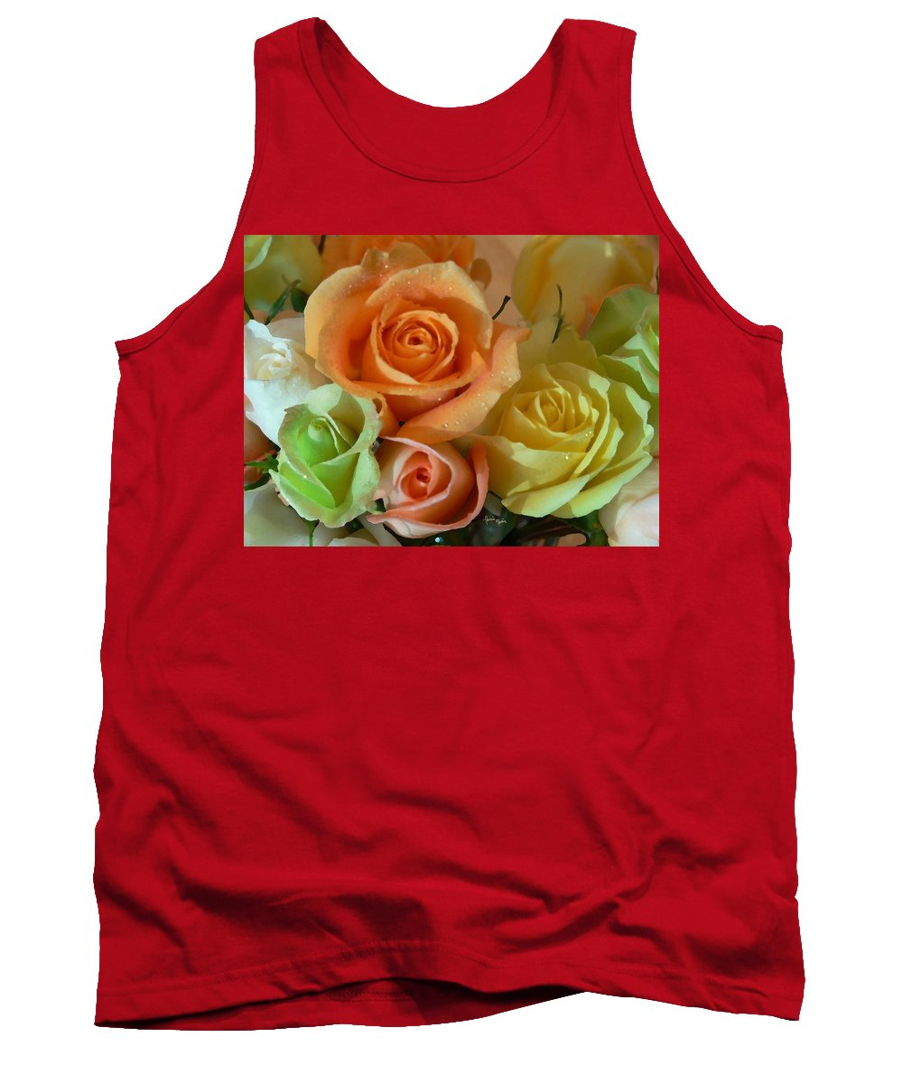 New England Photos Tank Top featuring the photograph Roses In Pastel by Nancie DeMellia