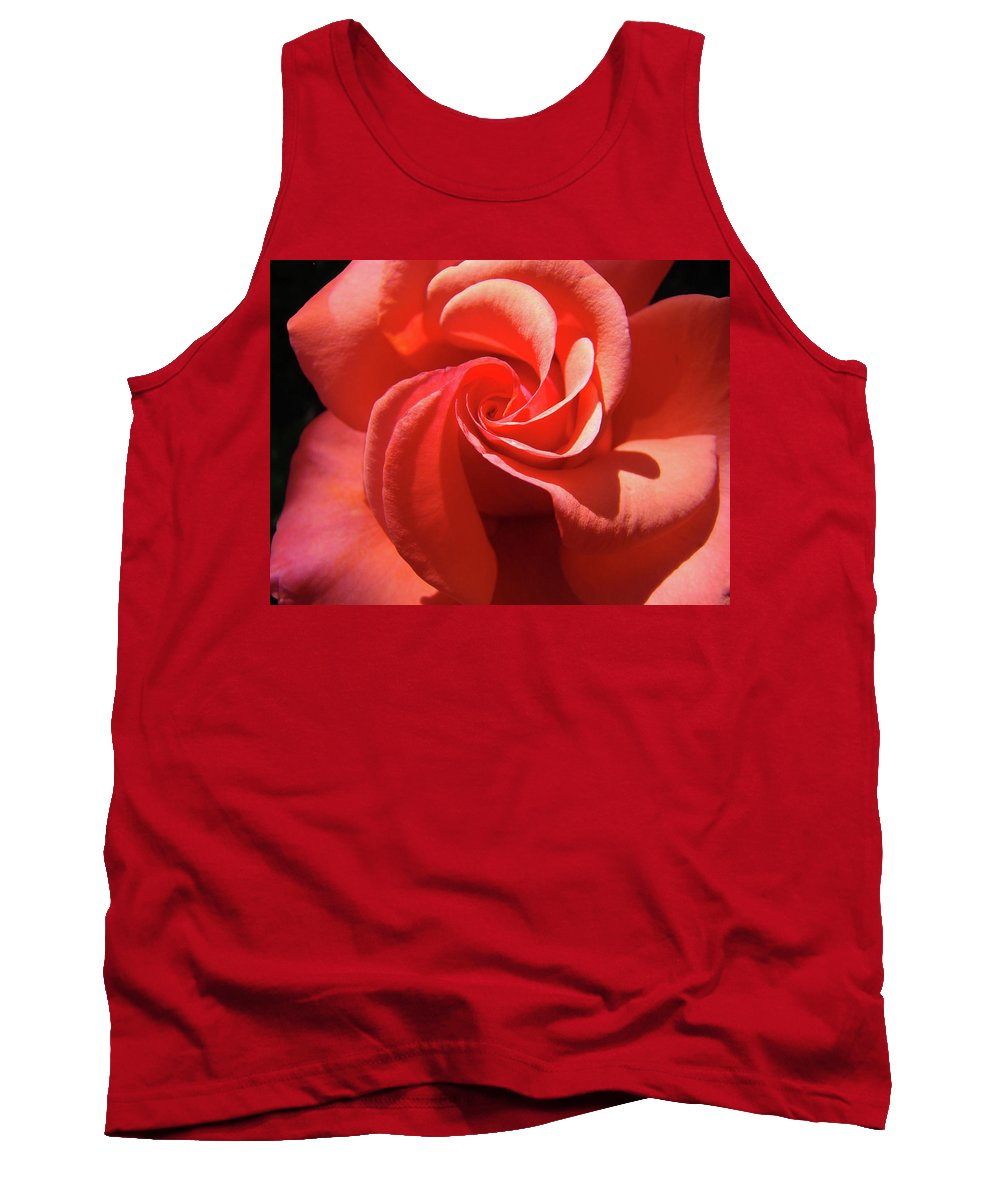 Rose Tank Top featuring the photograph Roses Orange Rose Flower Spiral Artwork 4 Rose Garden Baslee Troutman by Baslee Troutman