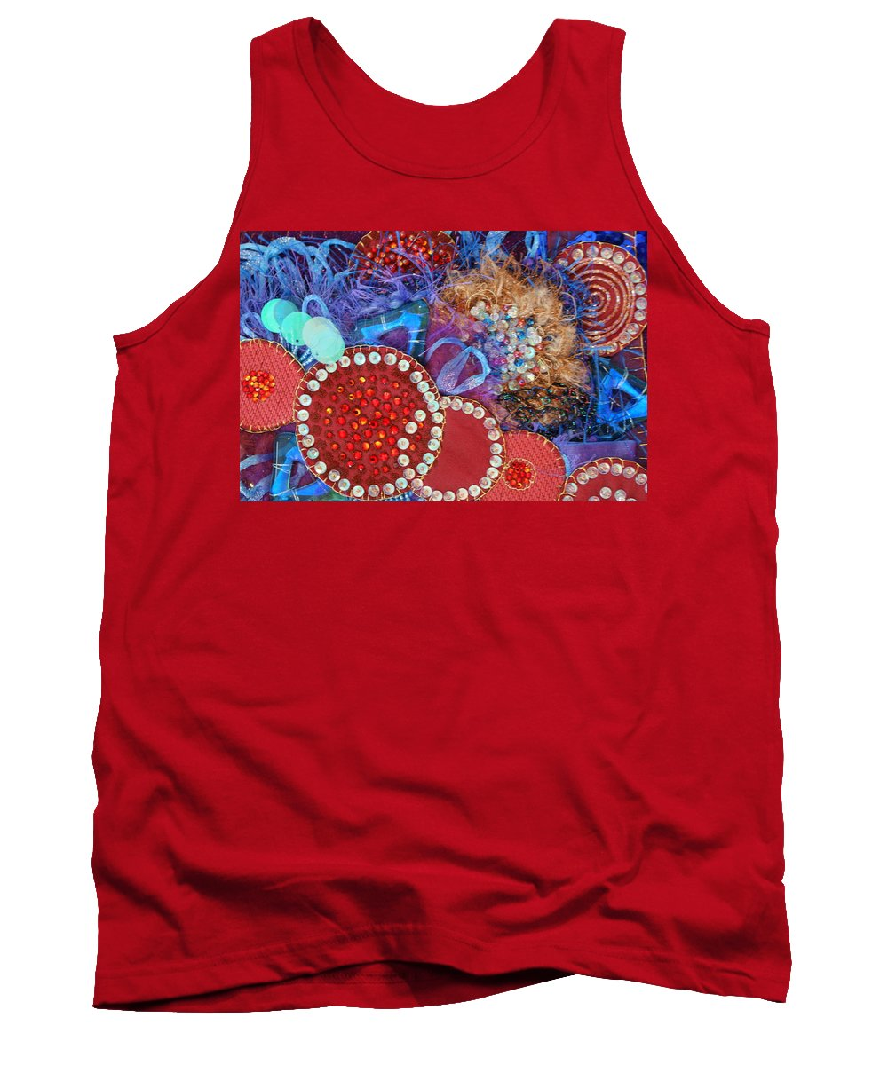 Tank Top featuring the mixed media Ruby Slippers 3 by Judy Henninger