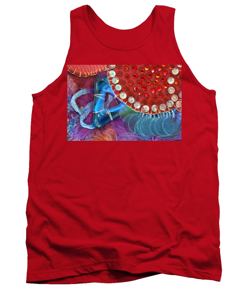 Tank Top featuring the mixed media Ruby Slippers 4 by Judy Henninger