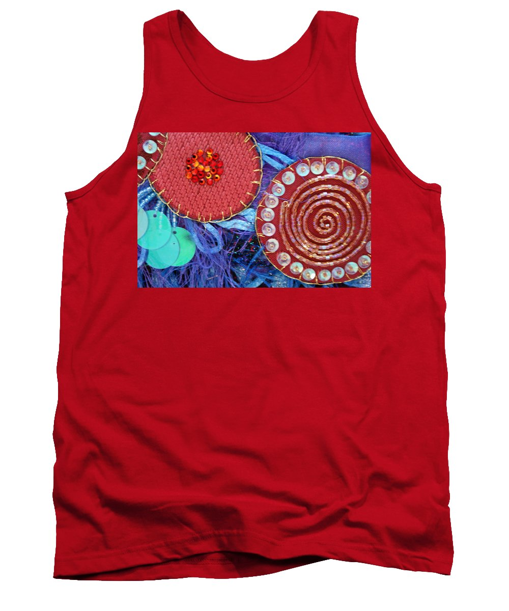 Tank Top featuring the mixed media Ruby Slippers 5 by Judy Henninger