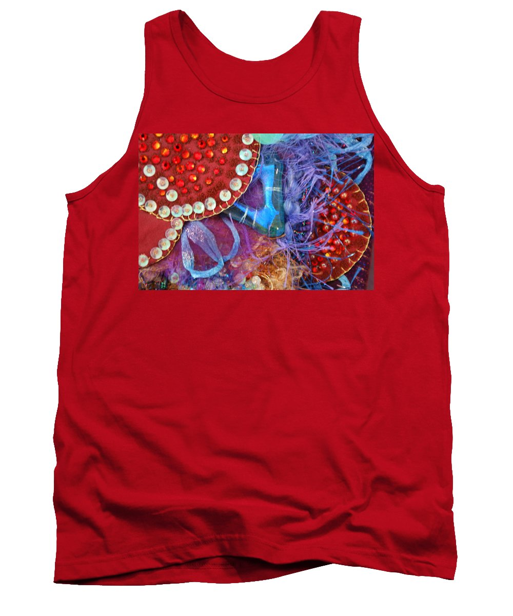 Tank Top featuring the mixed media Ruby Slippers 7 by Judy Henninger