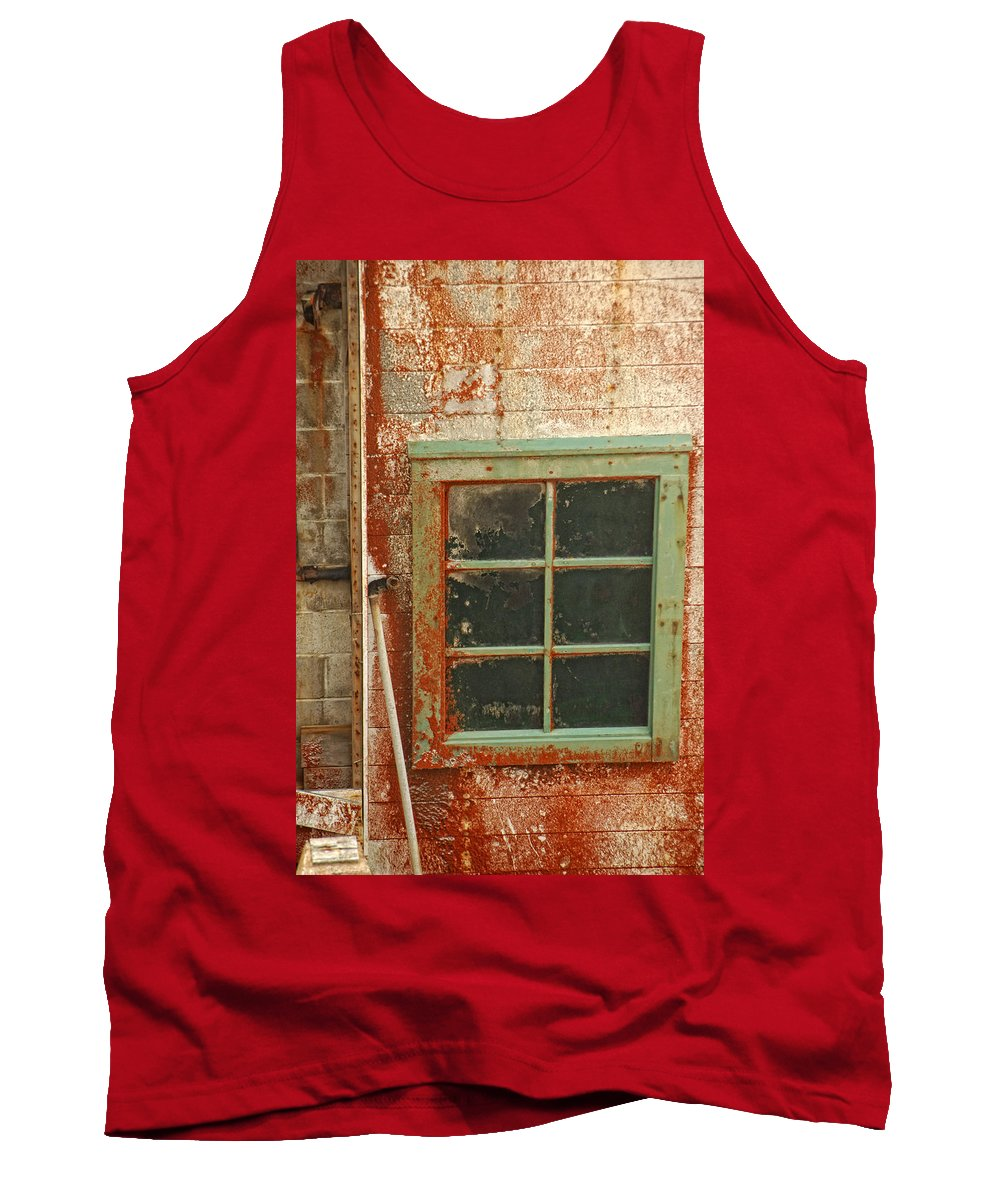 Window Tank Top featuring the photograph Rusty Lighthouse Window by Donna Blackhall