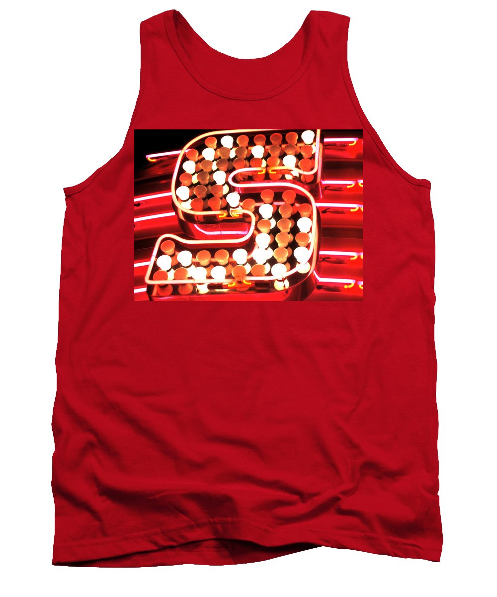 City Tank Top featuring the photograph S In Lights by Susan Baker