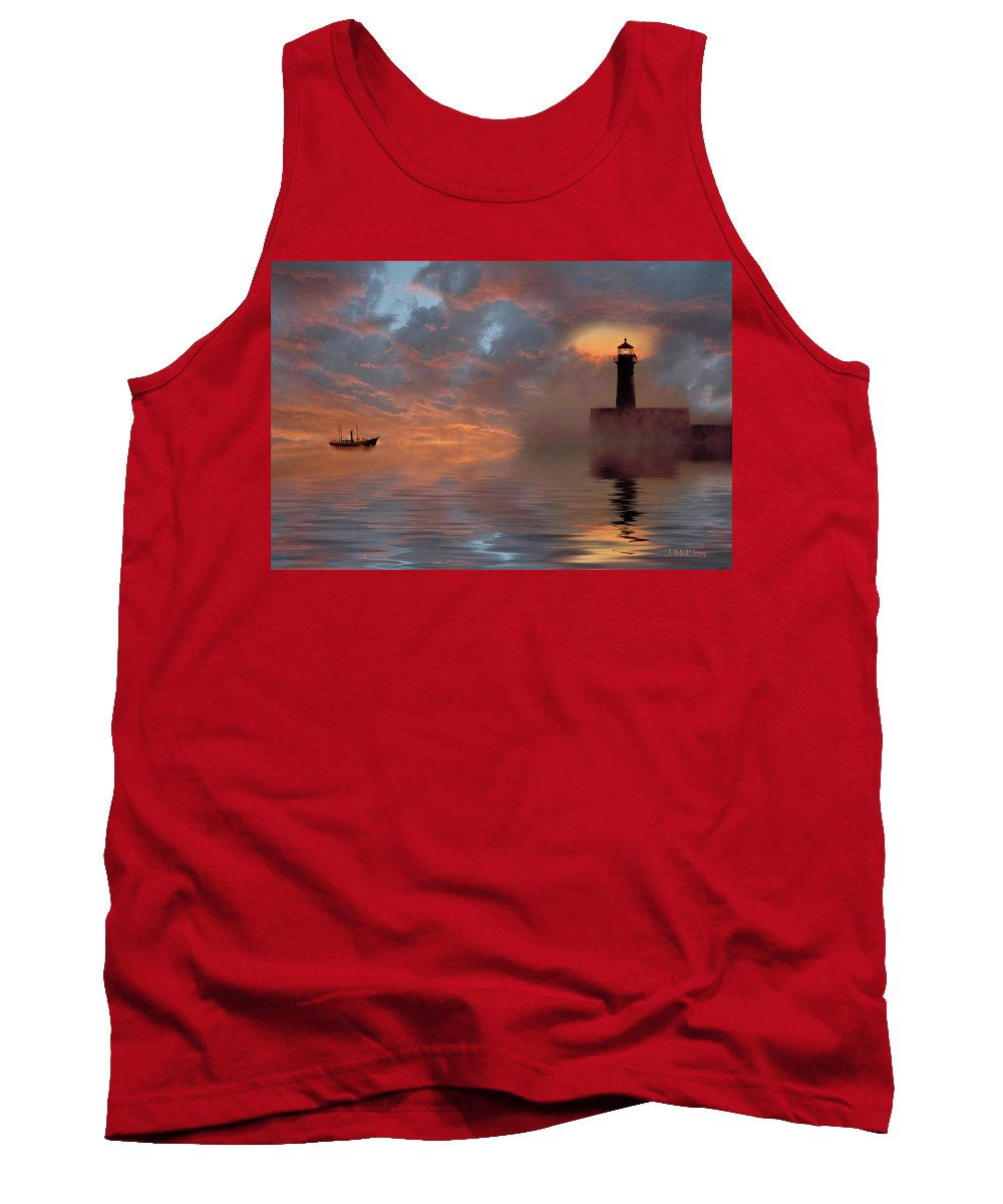 Ocean Scene Tank Top featuring the photograph Safe Harbor by Jerry McElroy
