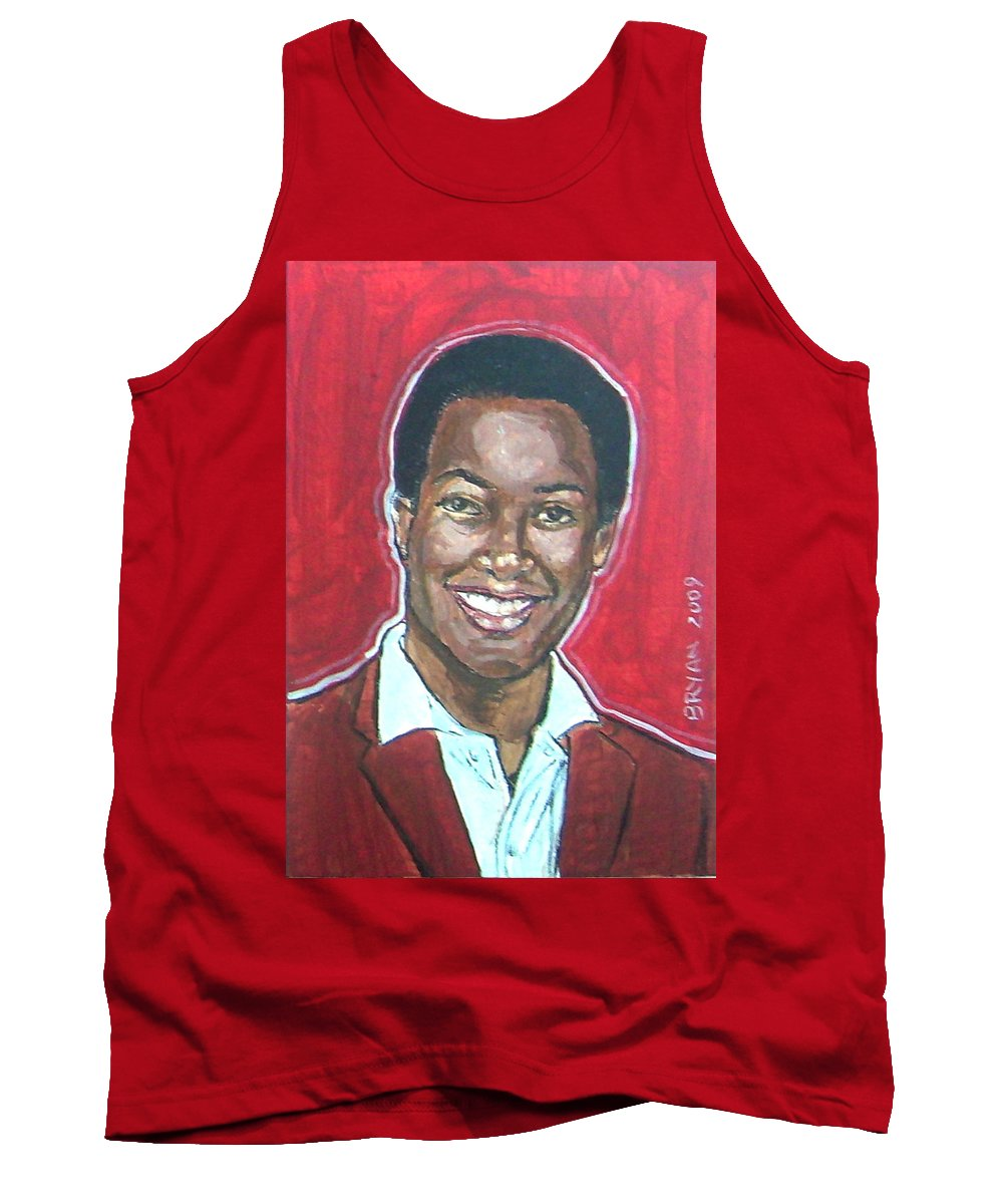 Sam Cooke Tank Top featuring the painting Sam Cooke by Bryan Bustard