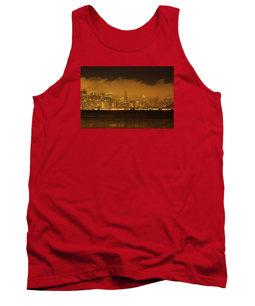 Sunrise Tank Top featuring the photograph San Francisco Pyramid by Ydania Ogando