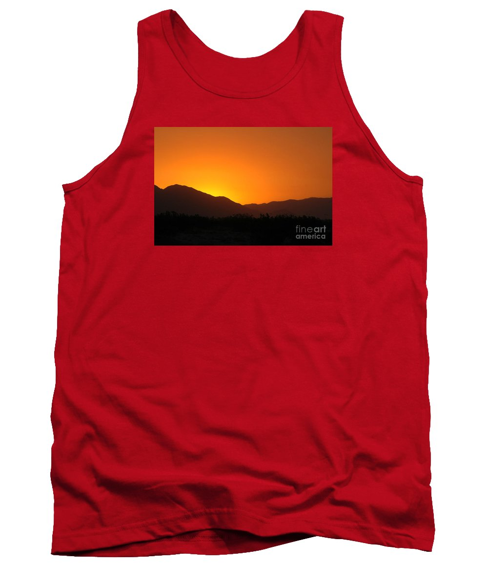 Sunset Tank Top featuring the photograph San Jacinto Dusk Near Palm Springs by Michael Ziegler
