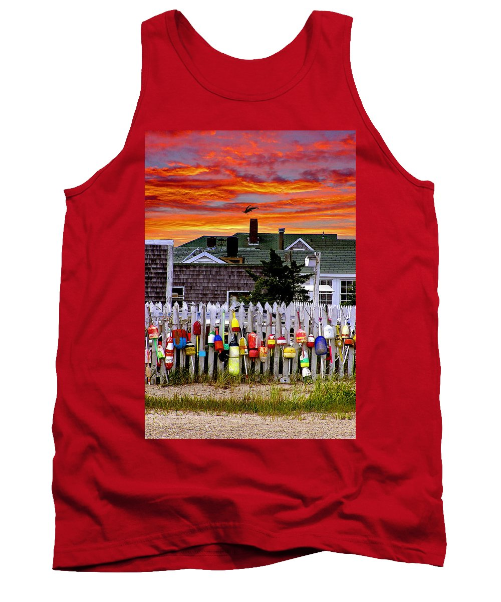Sandy Neck Tank Top featuring the photograph Sandy Neck Sunset by Charles Harden