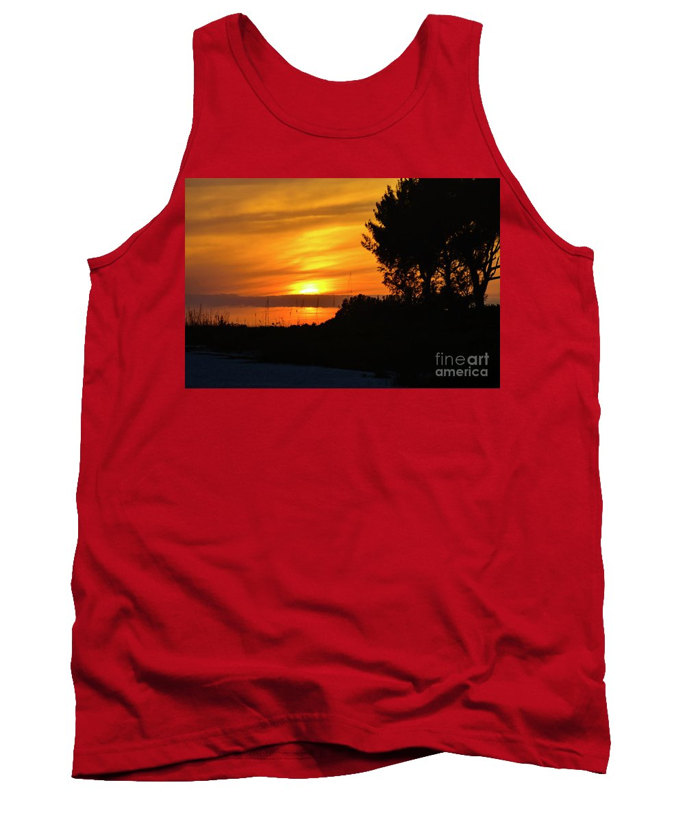 Sanibel Island Tank Top featuring the photograph Sanibel Island Sunset Two by Bob Phillips